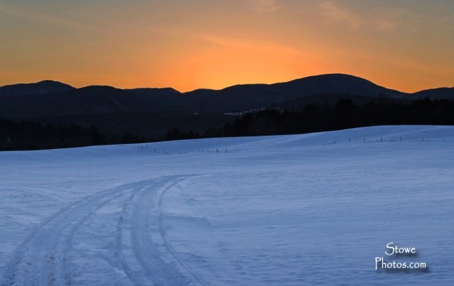 Stowe Vermont - February Sunset