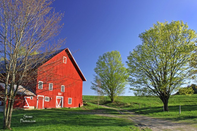 Springtime - Barn on Luce Hill, Stowe, VT