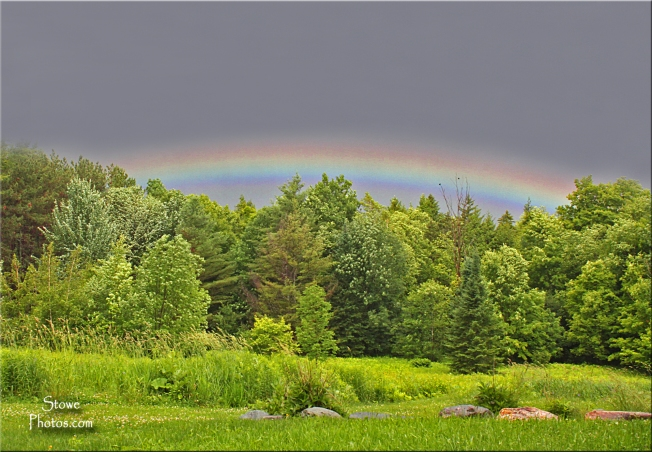 Rainbow in Stowe Hollow