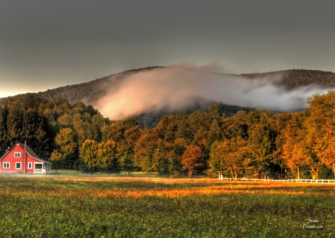 Stowe Vermont - Stowe Hollow August Sunset