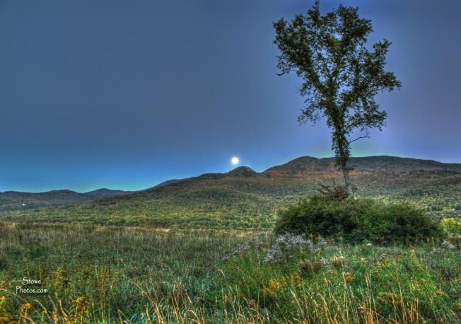 Full Harvest Moon - Stowe, Vermont