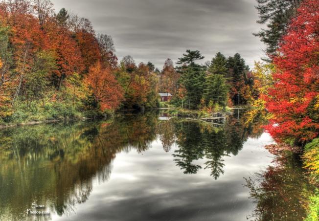 Morristown Vermont - Bridge View in October