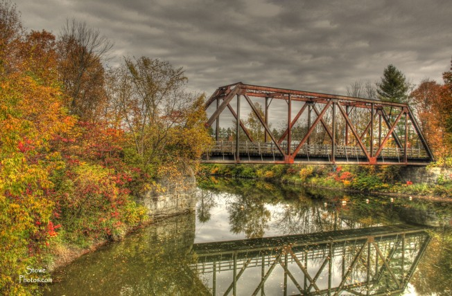Morristown Vermont - Bridge in October