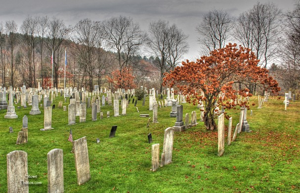 Stowe VT - Stowe Village Cemetery on Halloween Day