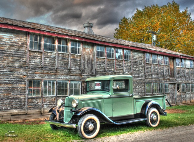 Stowe VT - Antique Car in October 2013