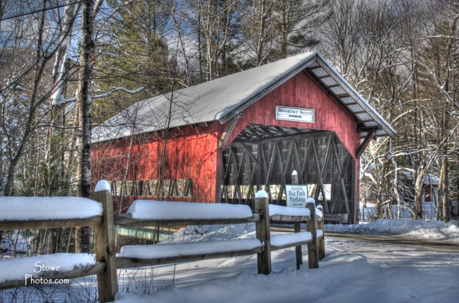 Stowe Vermont - Covered Bridge in December