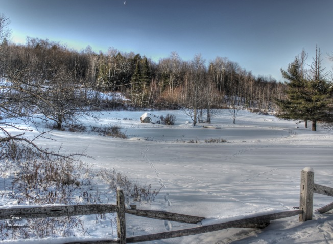 Stowe, VT - January Pond