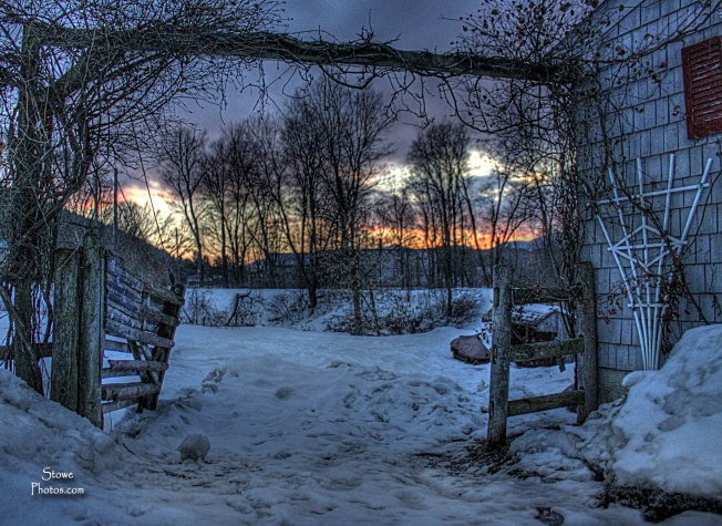 Stowe VT - Sunset from Birdsong Farm
