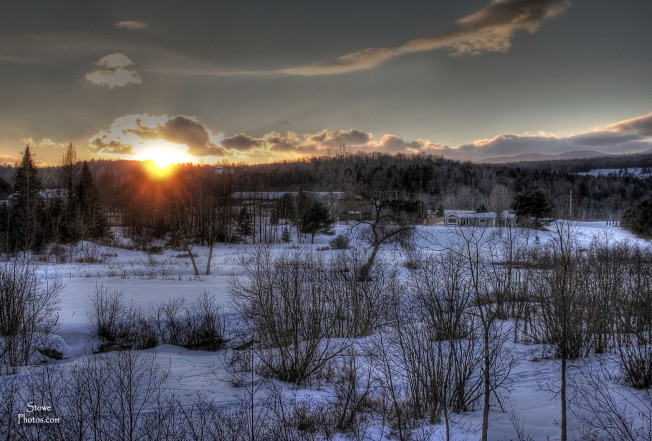Morristown VT - March Sunset off Sun Valley Road