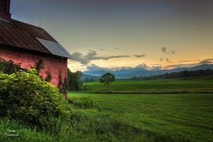 2015 7 30 barn and sunset