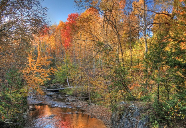 Stowe, VT - Emily's Bridge on October 12, 2015.  Located in Stowe Hollow and the site of some ghost sightings!