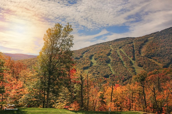 Stowe, VT - Stowe Mountain Resort - Color and Sun - October 5, 2015