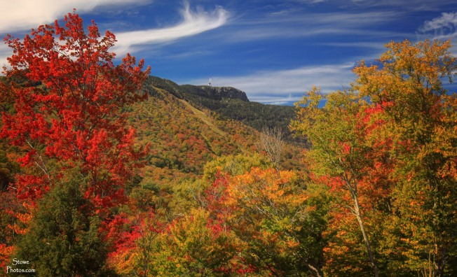 Stowe, Vermont - Stowe Mountain Resort Foliage on October 5, 2015