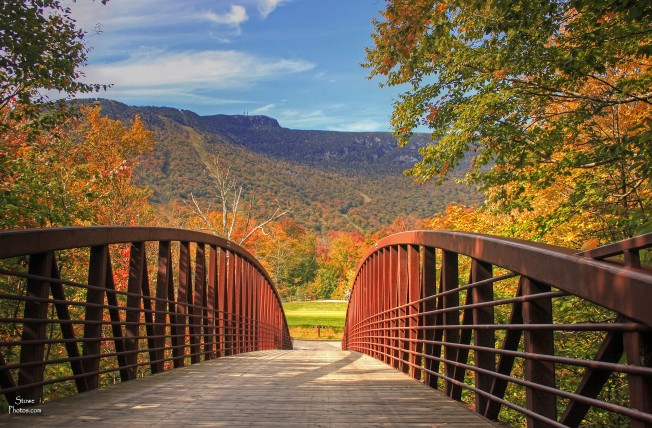 Stowe Mountain Resort - the bridge on October 5, 2015