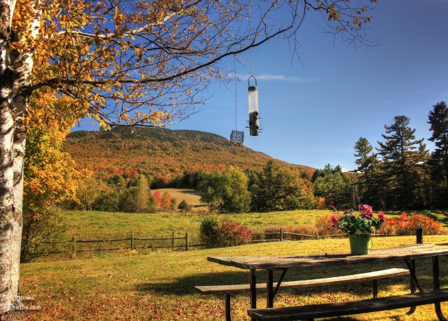 Morristown, Vermont - view towards Elmore Mountain on October 8, 2015
