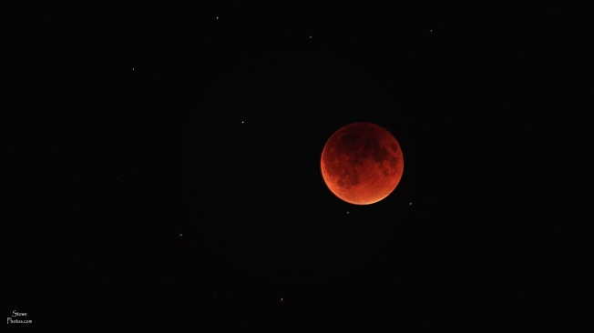 Stowe, Vermont - The Blood Moon on September 27, 2015