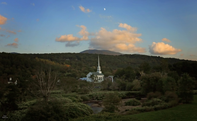 2018 09 18 Stowe Church sunset